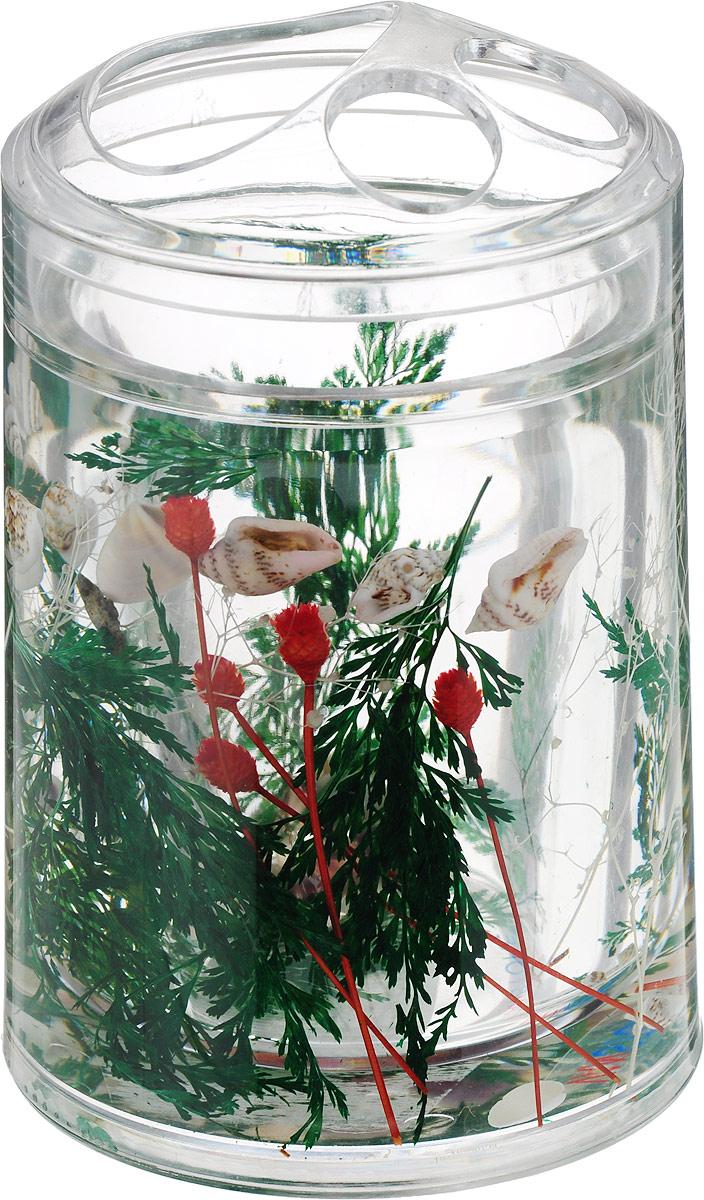 Стаканчик для зубных щеток Маки, цвет: зеленый стаканчик маки