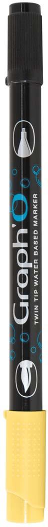 GraphIt Маркер двухсторонний акварельный GraphO цвет: 1220 маслоGO01220Graph`O – это акварельные маркеры с двумя наконечниками – мягкой кисточкой и линером в металлической оправе для сверхточных работ. Маркеры состоят из чернил на водной основе без запаха. Палитра насчитывает 60 ярких интенсивных цветов, которые легко смешиваются друг с другом и размываются водой. Акварельные маркеры Graph`O имеют тонкий корпус, который приятно и удобно держать в руке Основные характеристики: • Количество цветов – 48 • Двусторонний маркер (наконечник в форме кисти и линер) • Линер в металлической оправе имеет толщину стержня 0,5 мм • Герметичный колпачок, препятствующий высыханию • Цвета легко размываются водой