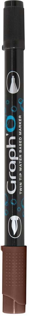 GraphIt Маркер двухсторонний акварельный GraphO цвет: 3290 черное деревоGO03290Graph`O – это акварельные маркеры с двумя наконечниками – мягкой кисточкой и линером в металлической оправе для сверхточных работ. Маркеры состоят из чернил на водной основе без запаха. Палитра насчитывает 60 ярких интенсивных цветов, которые легко смешиваются друг с другом и размываются водой. Акварельные маркеры Graph`O имеют тонкий корпус, который приятно и удобно держать в руке Основные характеристики: • Количество цветов – 48 • Двусторонний маркер (наконечник в форме кисти и линер) • Линер в металлической оправе имеет толщину стержня 0,5 мм • Герметичный колпачок, препятствующий высыханию • Цвета легко размываются водой