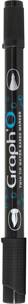 GraphIt Маркер двухсторонний акварельный GraphO цвет: 9909 черныйGO09909Graph`O – это акварельные маркеры с двумя наконечниками – мягкой кисточкой и линером в металлической оправе для сверхточных работ. Маркеры состоят из чернил на водной основе без запаха. Палитра насчитывает 60 ярких интенсивных цветов, которые легко смешиваются друг с другом и размываются водой. Акварельные маркеры Graph`O имеют тонкий корпус, который приятно и удобно держать в руке Основные характеристики: • Количество цветов – 48 • Двусторонний маркер (наконечник в форме кисти и линер) • Линер в металлической оправе имеет толщину стержня 0,5 мм • Герметичный колпачок, препятствующий высыханию • Цвета легко размываются водой