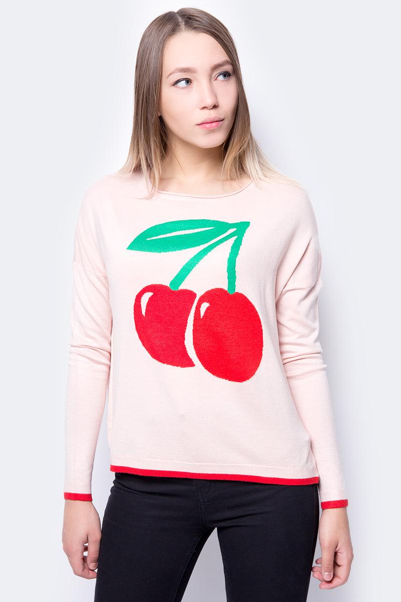 Джемпер женский Only, цвет: розовый. 15149523. Размер M (44)
