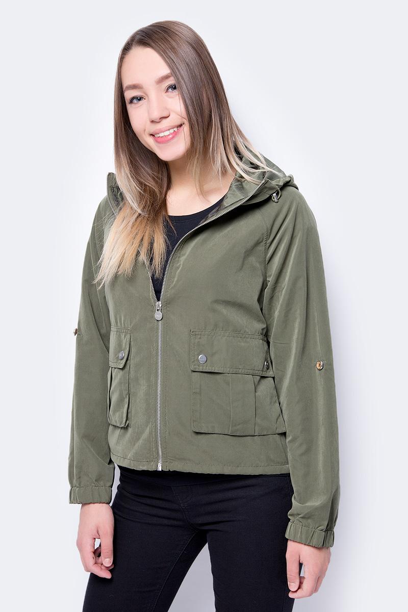 Куртка женская Only, цвет: зеленый. 15148755. Размер M (44) рубашка женская kepler shirt w цвет зеленый 1401723 7734 размер m 46 48