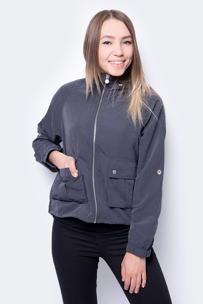 Куртка женская Only, цвет: серый. 15148755. Размер M (44) коврик bayard 15727 selfi m 38 цвет серый с черным размер 183х51х3 8
