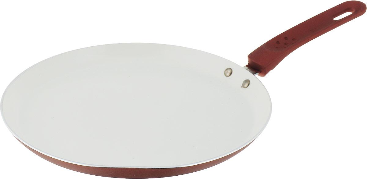Сковорода для блинов Mayer & Boch, с керамическим покрытием, цвет: коричневый. Диаметр 26 см сковорода d 24 см mayer and boch mb 22477