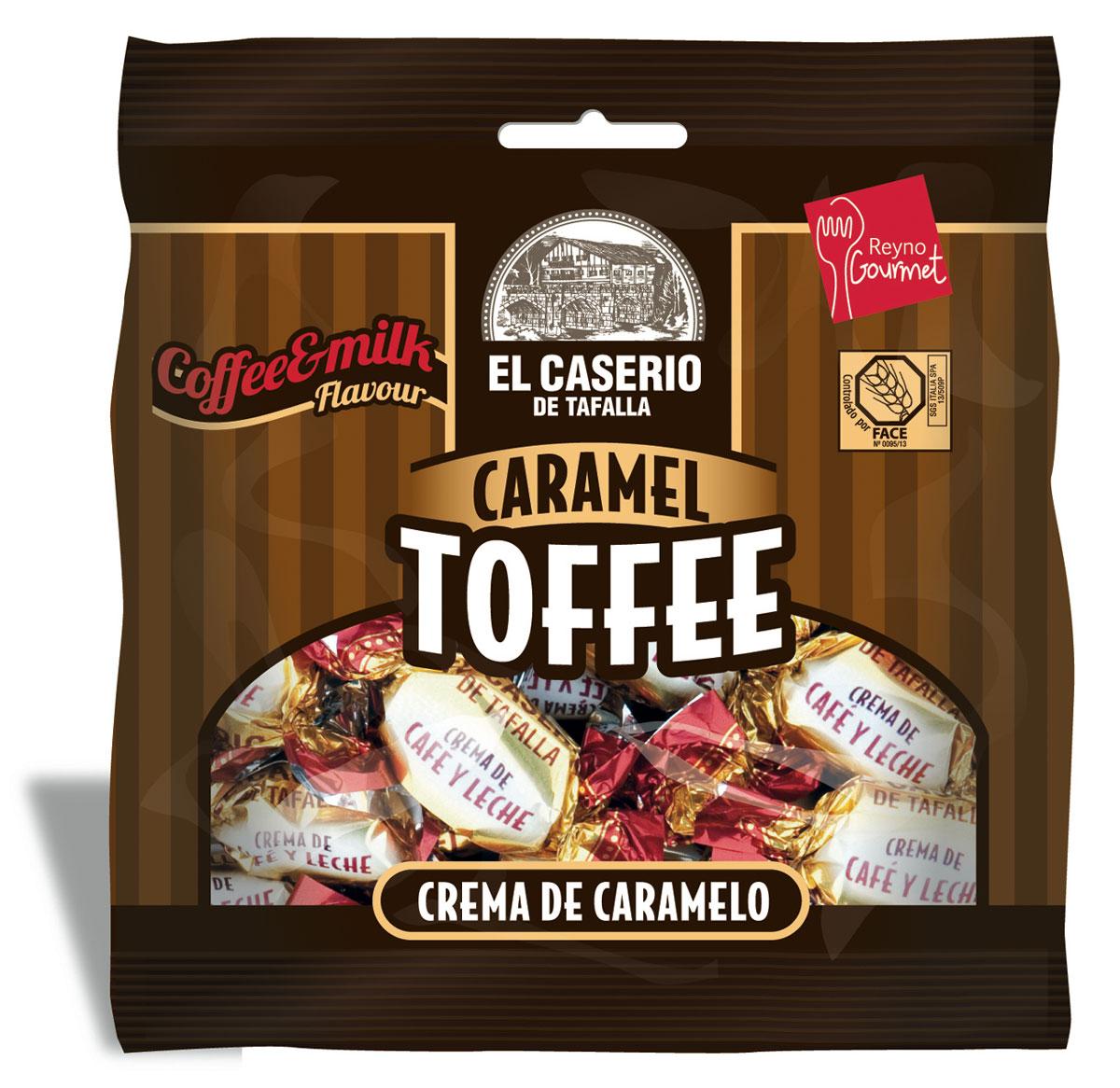 El Caserio de Tafalla Конфеты сливочные карамельные Кофе с молоком пакет, 85 г обложка для паспорта printio mortal kombat noob saibot