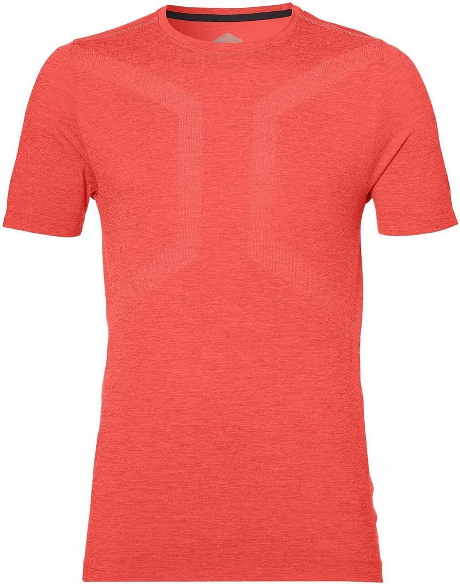 Футболка мужская Asics Seamless Ss Top, цвет: коралловый. 155216-0698. Размер XL (50)