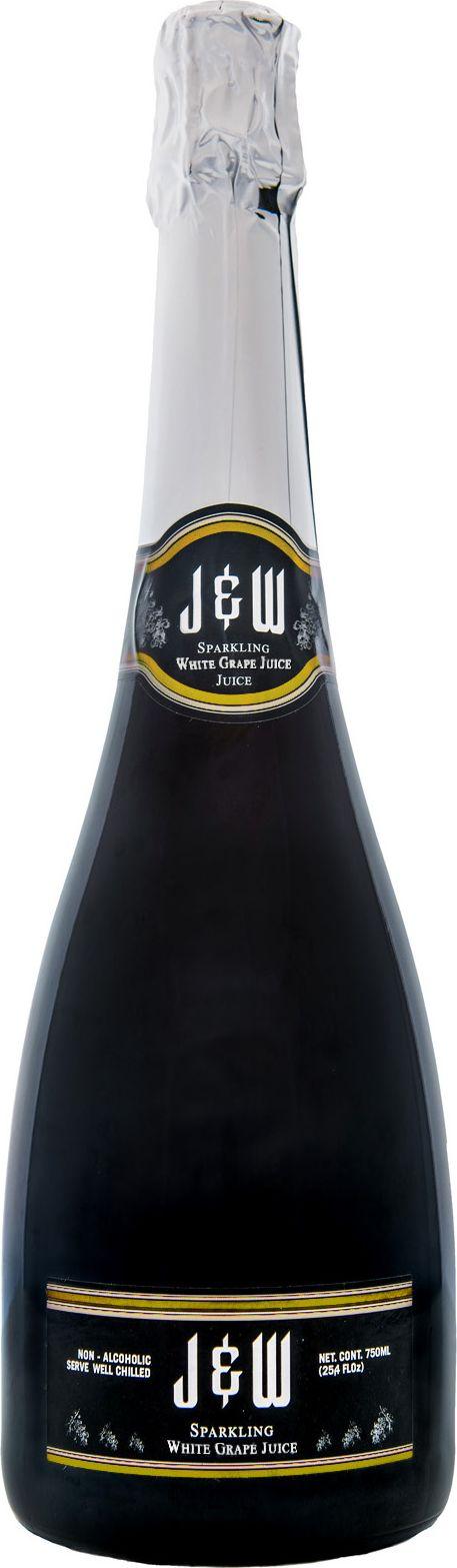 J&W Вино игристое белое безалкогольное, 0,75 л
