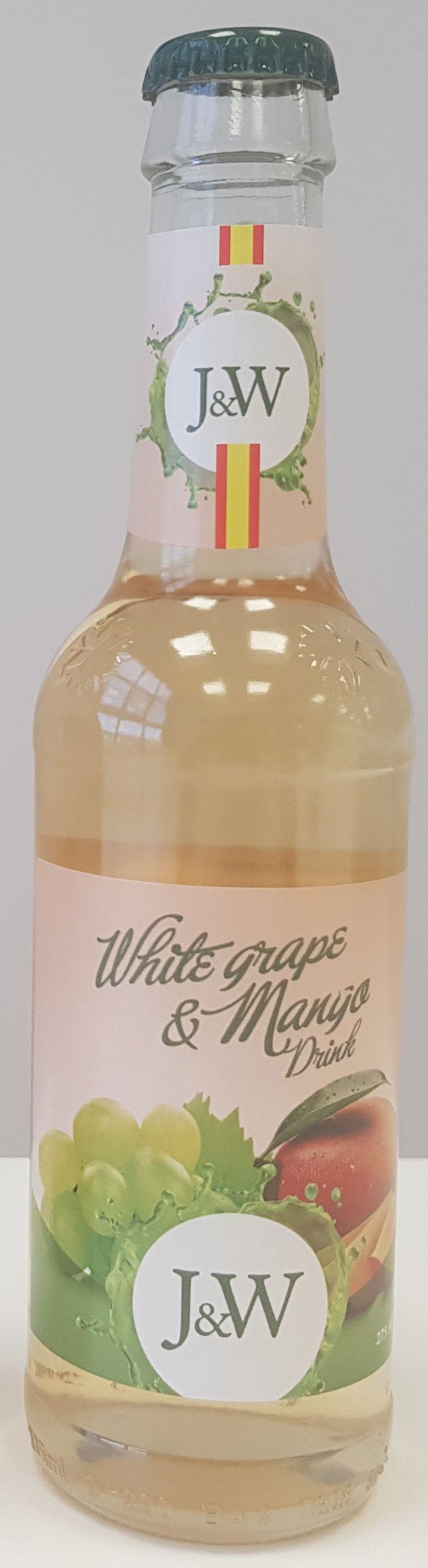 J&W Сок белого винограда со вкусом Манго газированный, 0,275 л
