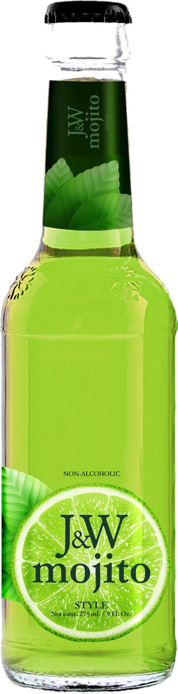 J&W Мохито Напиток газированный, 0,275 л напиток fruktomania мохито 1 5 л