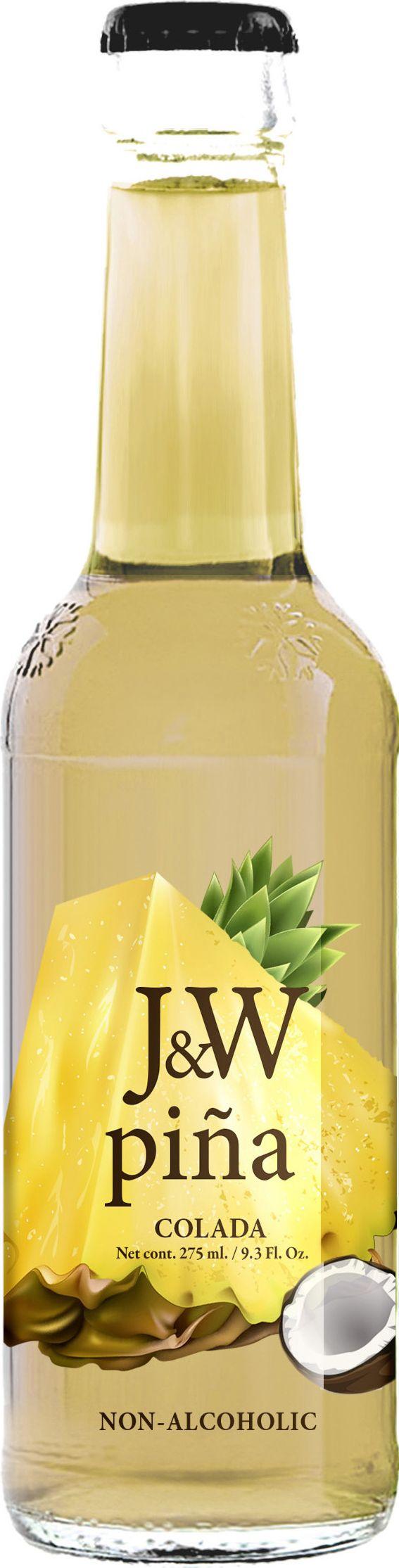 J&W Пина Колада Напиток негазированный, 0,275 л массажное масло concorde пина колада 59 мл