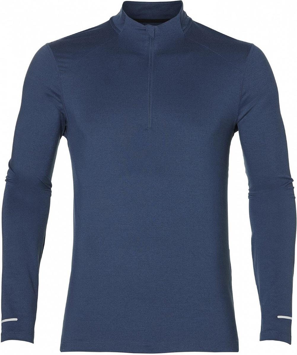Лонгслив мужской Asics Ls 1/2 Zip Jersey, цвет: темно-синий. 154589-1273. Размер XXL (52) лонгслив мужской asics lite show ls top цвет черный 154232 0904 размер xxl 52