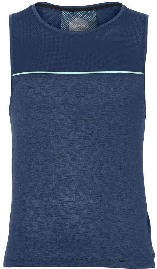 Майка мужская Asics Cool Singlet, цвет: темно-синий. 154568-0793. Размер S (44)