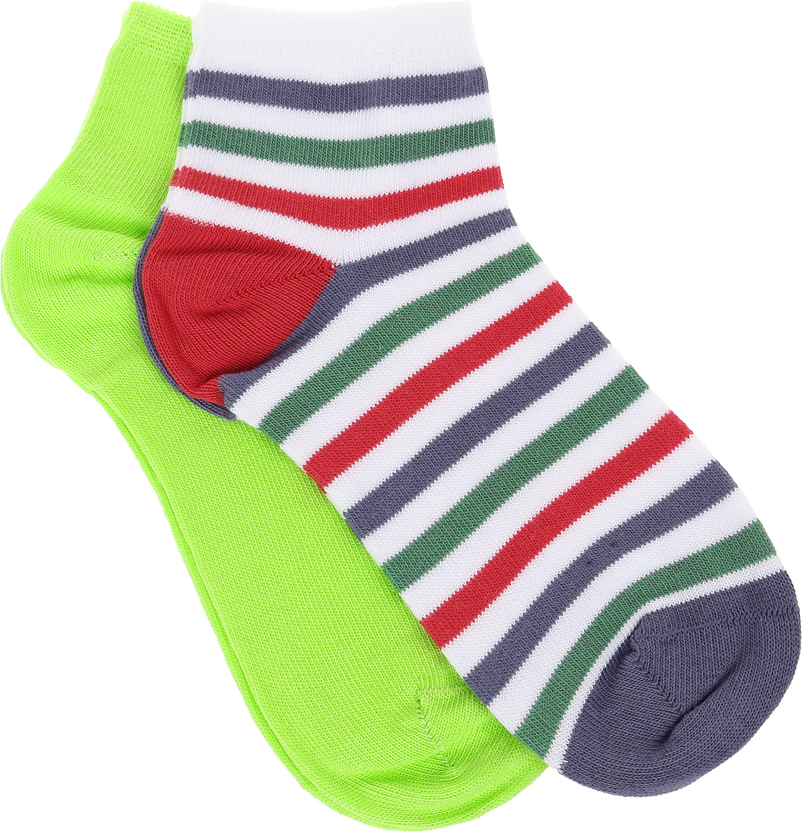 Носки для мальчиков PlayToday, цвет: зеленый, красный. 281020. Размер 34/37281020Носки выполнены из смесового материала с высоким содержанием натурального хлопка. Хорошо облегают ногу. Аккуратные швы не вызывают неприятных ощущений.