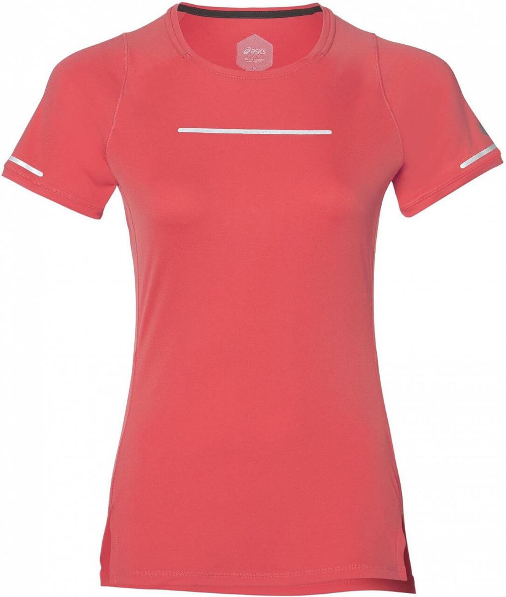 Футболка для бега женская Asics Lite-Show Ss Top, цвет: коралловый. 154528-0698. Размер S (44) футболка lin show 367