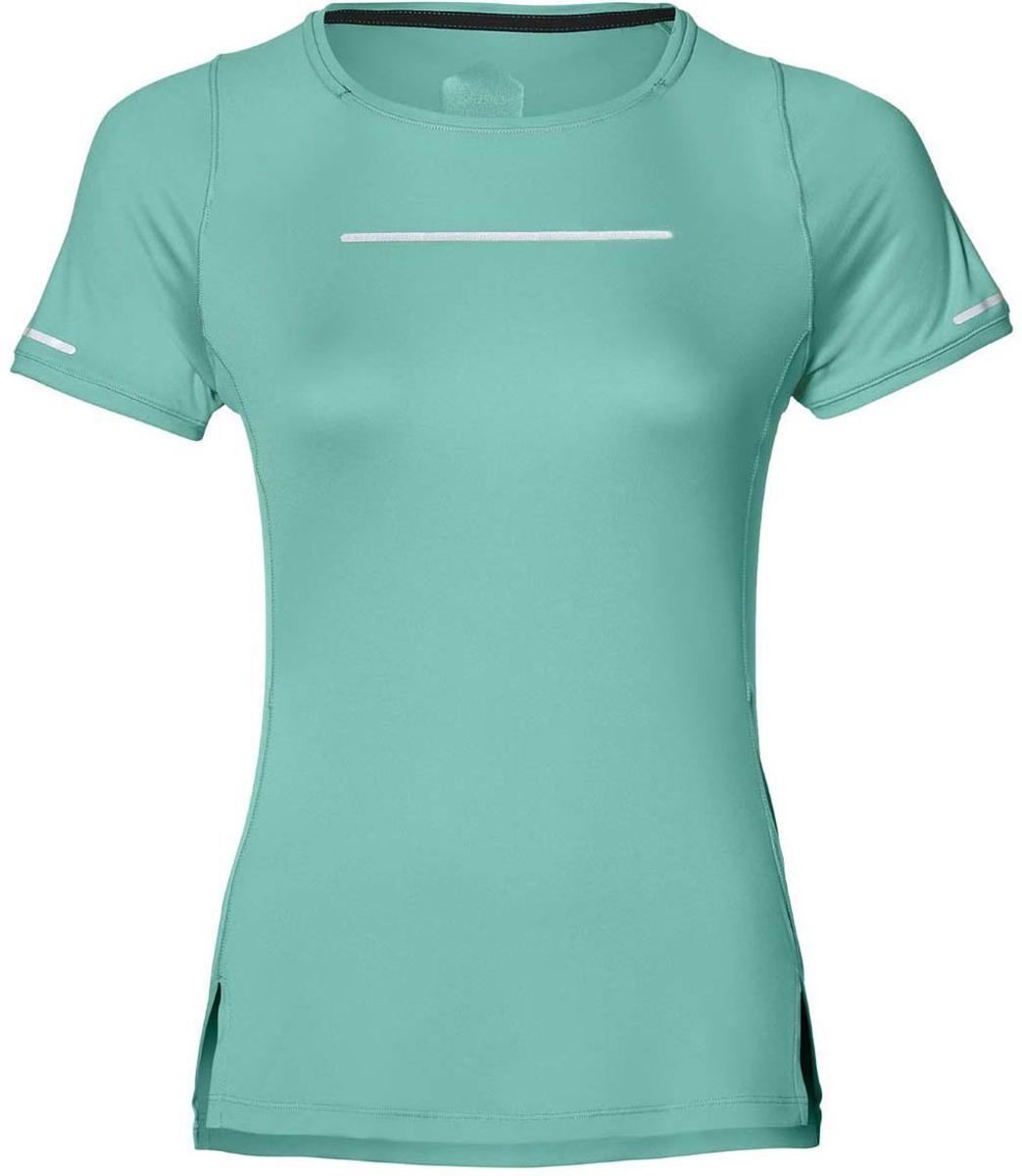 Футболка для бега женская Asics Lite-Show Ss Top, цвет: бирюзовый. 154528-0498. Размер XS (42)