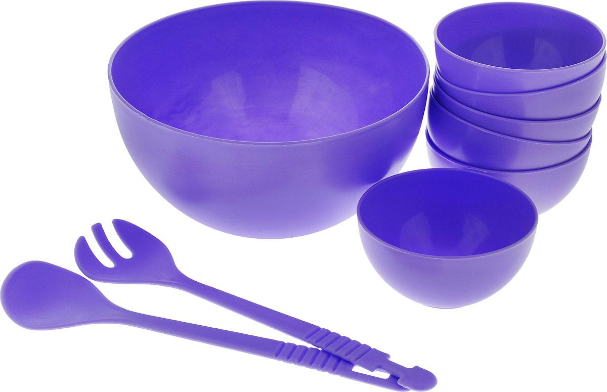 Набор для салата Gotoff, цвет: сиреневый, 9 предметовWTC-700_сиреневый