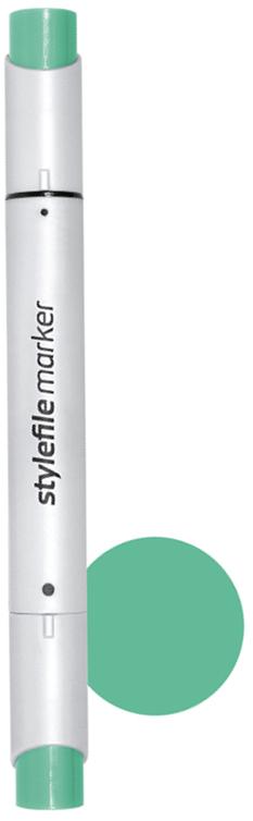 Stylefile Маркер двухсторонний Brush цвет 640 зеленый мятныйSFBR640Маркеры Stylefile Brush - это профессиональные маркеры со спиртовыми чернилами для дизайнеров, граффити-художников, иллюстраторов. Благодаря эргономичному корпусу маркеры идеально ложатся в руку, ими легко работать. Каждый маркер имеет по два пера: кисть с одной стороны для мелких или детальных работ и широкое скошенное перо для больших площадей закрашивания. Основные характеристики:124 оттенка (включая блендер).Круглый корпус.2 наконечника: кисть и плоский скошенный.Герметичный колпачок, препятствующий высыханию.Дозаправляемые.
