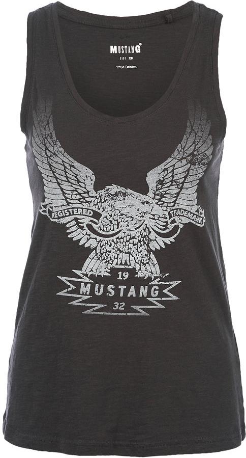 Майка женская Mustang, цвет: темно-серый. 1005507-4087. Размер XS (40) футболка женская diesel цвет черный 00svvp 0canr 900 размер xs 40