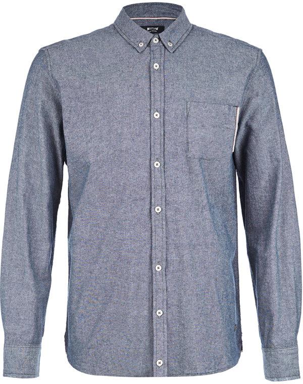 Рубашка мужская Mustang, цвет: серый. 1005752-5226. Размер XXXL (56) montblanc