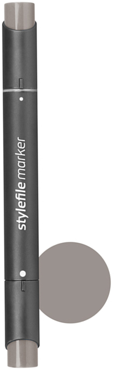 Stylefile Маркер двухсторонний Classic цвет: wg6 серый теплый 6 stylefile маркер двухсторонний classic цвет 452 розовая роза