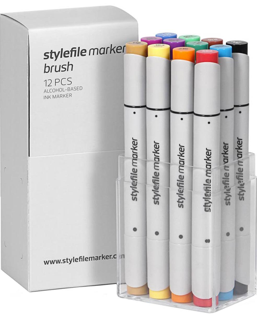В наборе:12 двухсторонних маркеров на спиртовой основе StyleFile BrushХудожественный маркер на спиртовой основе StyleFile Brush.Разные наконечники с двух сторон: широкое перо и кистьМаркеры специально предназначены для дизайнеров, граффити-художников, иллюстраторов и студентов художественных ВУЗов. Наконечники для маркеров разрабатываются в Японии по специальной технологии.