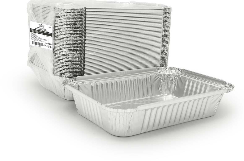 Форма для выпечки Горница, прямоугольная, L-край, 880 мл, 50 шт410-008Форма для выпечки Горница изготовлена из алюминия. Форма выдерживает любые температурные режимы. Используется в духовых шкафах, а та же на открытом огне на мангалах и жаровнях. Пища в такой форме не пригорает и не прилипает к стенкам. Идеально подходит для приготовления и разогрева пищи. Возможно использование для хранения и перевозки пищи. Также ее можно использовать для замораживания. Можно использовать как одноразовую посуду.