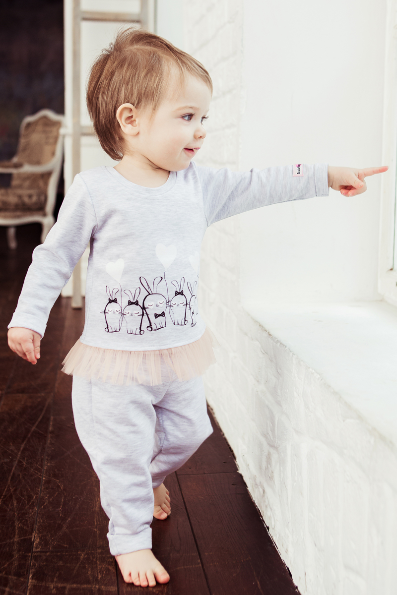 Кофта для девочки Lucky Child, цвет: серый. 54-19. Размер 74/80 кофта томилочка мода тм кофточка