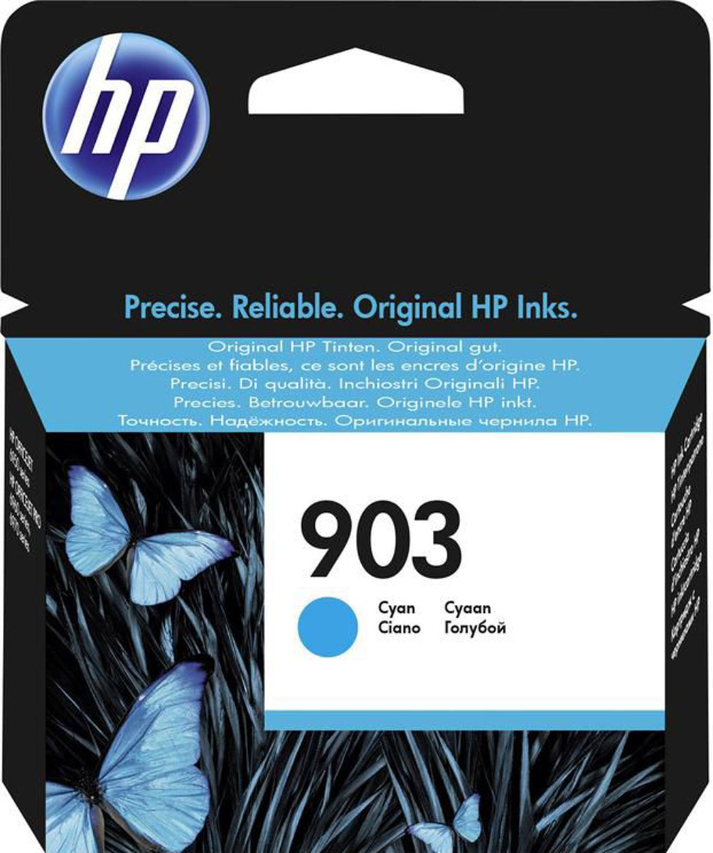 HP 903 (T6L87AE), Cyan картридж для HP OfficeJet 6950 / OfficeJet Pro 6960/6970 картридж hp cb323he 178xl cyan для c5383 c6383 b8553 d5463