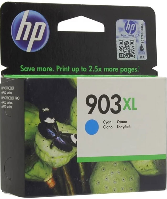HP 903XL (T6M03AE), Cyan картридж для HP OfficeJet 6950 / OfficeJet Pro 6960/6970 картридж hp cb323he 178xl cyan для c5383 c6383 b8553 d5463
