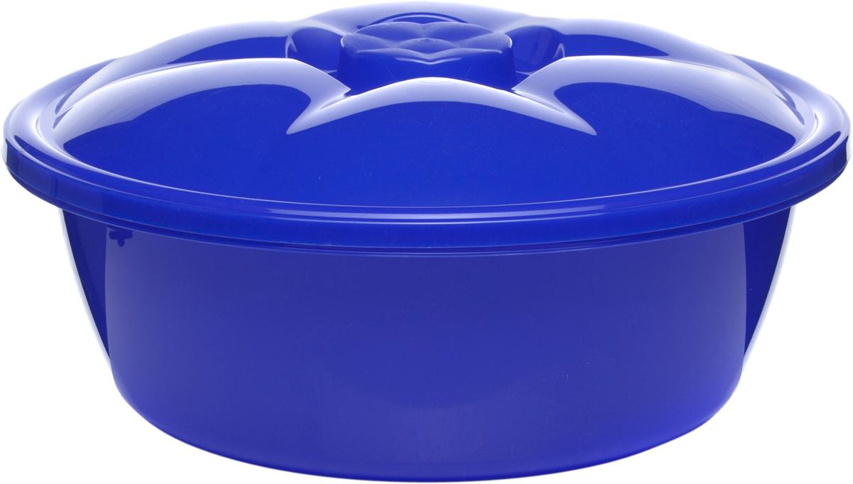 Таз StarPlast, с крышкой, цвет: синий, 10,5 л94035Таз StarPlast, с крышкой, цвет: синий, 10,5 л