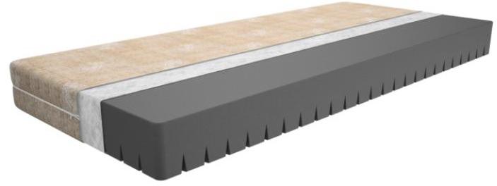 Состав:  Цельный 7-зональный блок экстра плотной пены SkyCell жесткостью 30 кг/м3 для улучшенной ортопедической поддержки Чехол на молнии из нежного трикотажа со льном. Максимальный вес на место: до 120 кг. - анатомический матрас из экстра прочного ортопедического материала с угольной пропиткой  - имитирует эффект 7 зонального пружинного матраса благодаря специальной резке. В отличие же от пружинного матраса, не создает вокруг себя вредное для здоровья человека магнитное поле   - подходит людям как с небольшим, так и с большим весом  - материал Sky Cell успешно прошел испытания на безопасность и экологичность, получил Европейский сертификат безопасности CertiPur  - итальянский трикотаж со льном LINO INTELLIGENTE обладает бактерицидными свойствами и является хорошим терморегулятором. Нежен на ощупь, легко снимается и поддается стирке  - легкий и удобный в эксплуатации. Для удобства транспортировки скручен в рулон и помещен в вакуумную упаковку