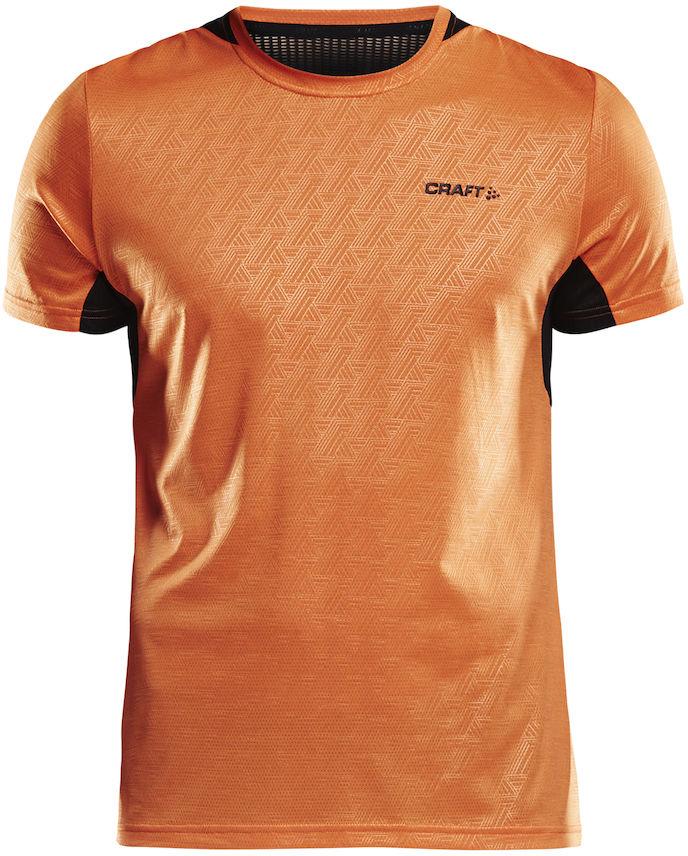 Футболка мужская Craft Breakaway SS One, цвет: оранжевый. 1905834/575999. Размер XL (52)1905834/575999Мягкая футболка с сетчатыми вставками в области подмышечных впадин, для оптимальной терморегуляции тела.