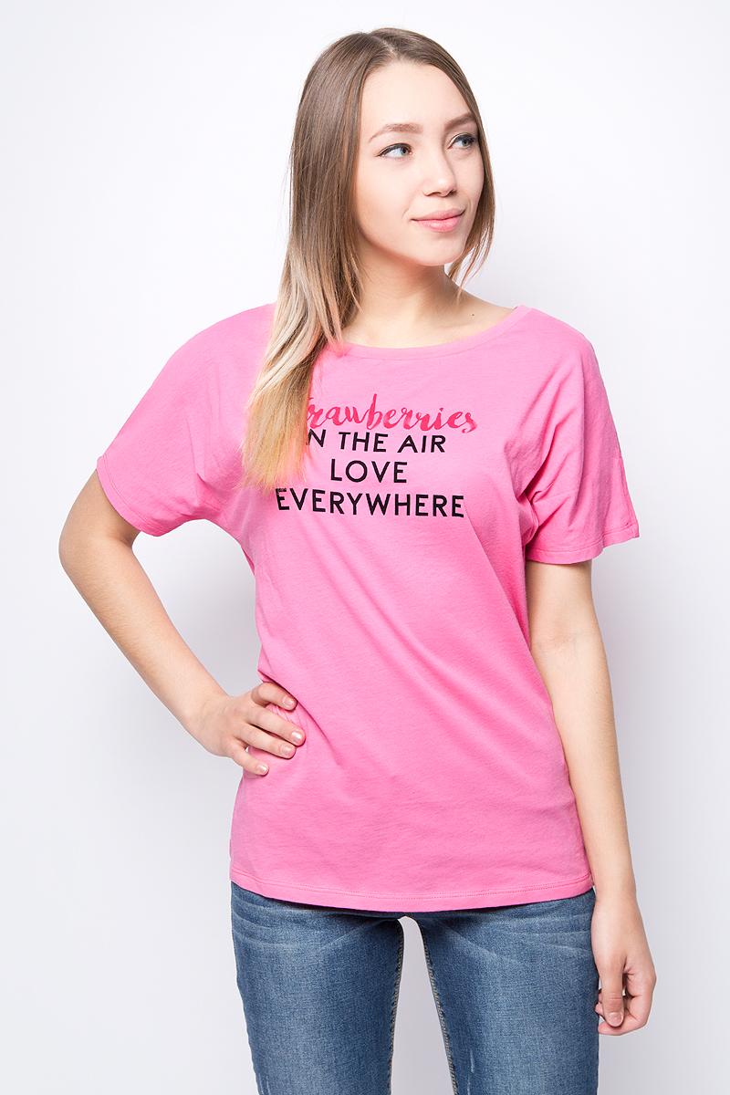 Купить Футболка женская United Colors of Benetton, цвет: розовый. 3L7NE10H1_3R5. Размер M (44/46)