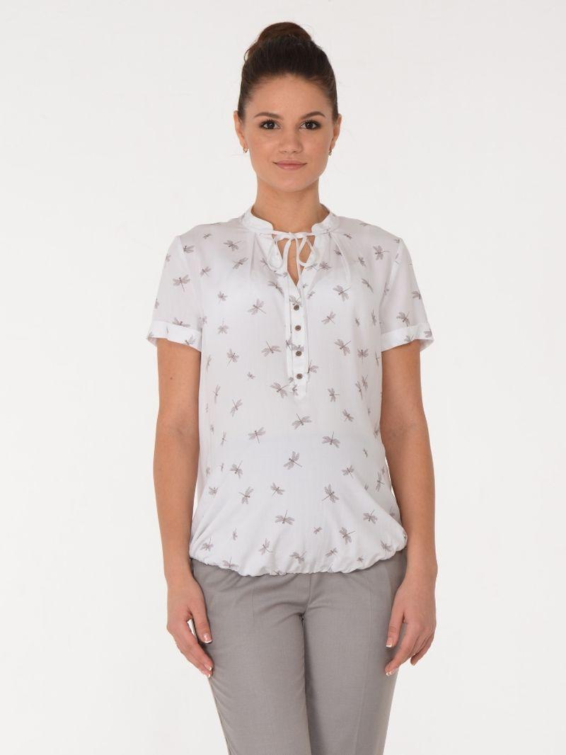 Блузка для беременных BuduMamoy, цвет: молочный. HD BL 1554 TL 624. Размер 46