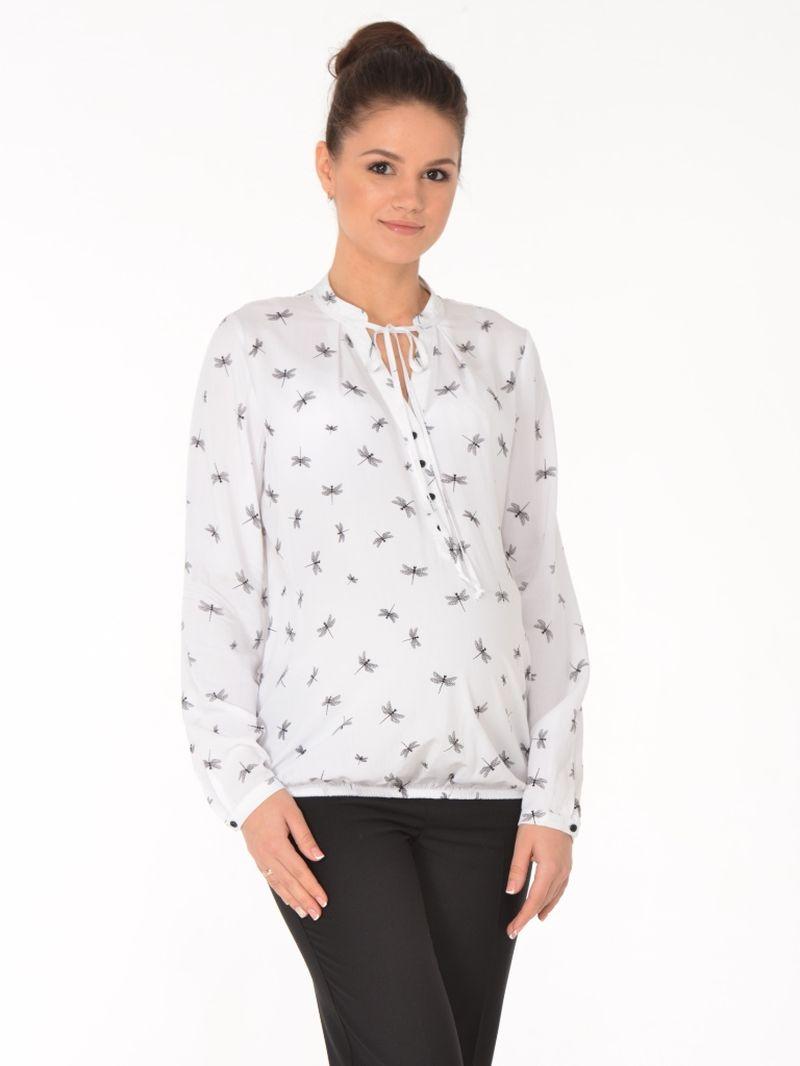 Блузка для беременных BuduMamoy, цвет: молочный. HD BL 932 TL 587. Размер 44