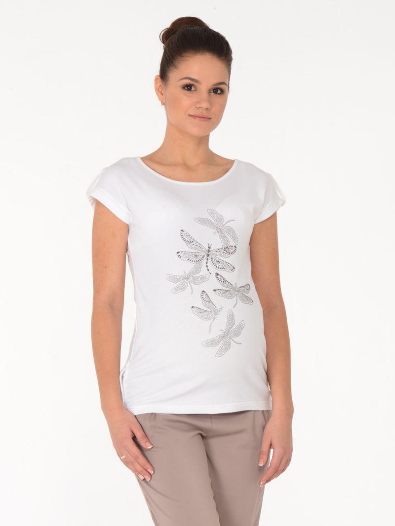 Блузка для беременных BuduMamoy, цвет: молочный. WN BL 633 TK 589. Размер 44
