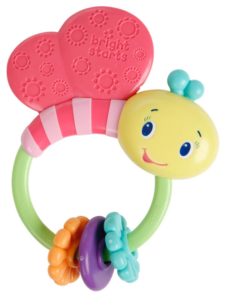 Bright Starts Развивающая игрушка-погремушка Розовая бабочка прорезыватель bright starts динозаврик желтый 52029 2