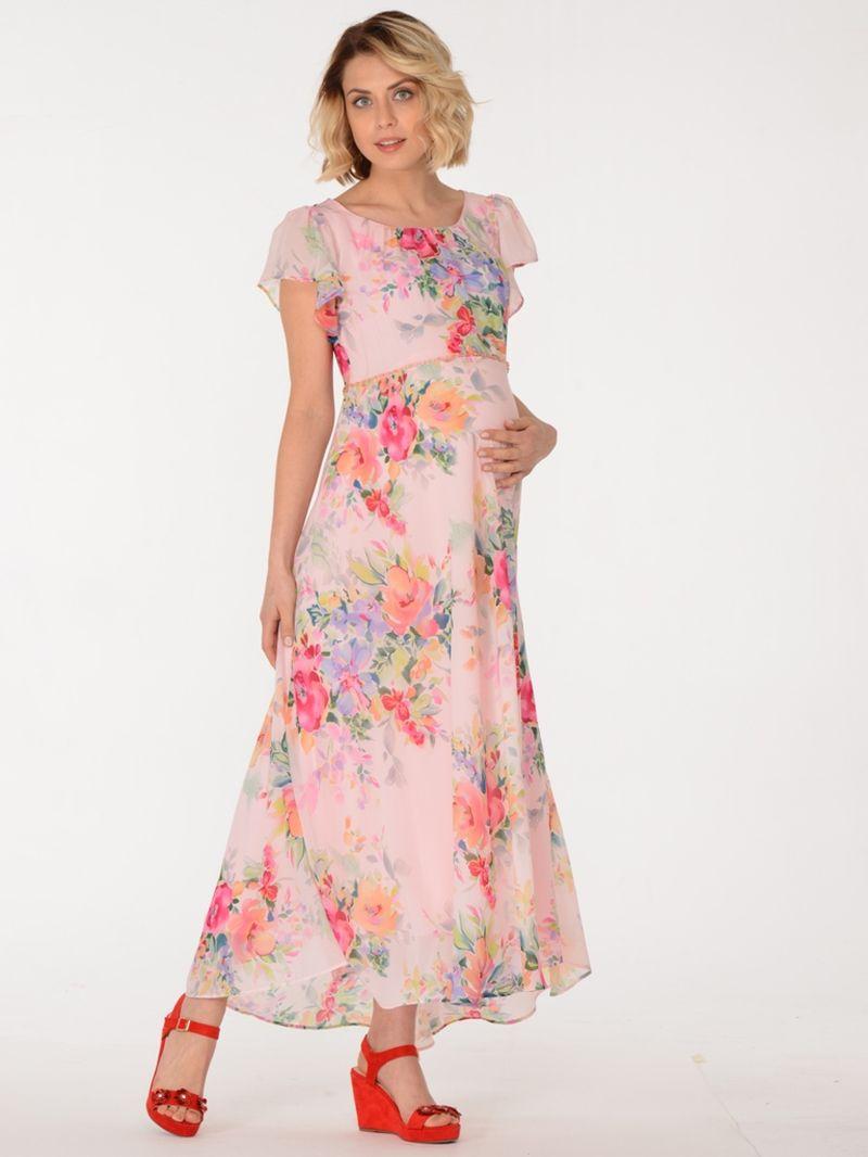 Платье для беременных BuduMamoy, цвет: розовый. HD PL 1531 TL 612. Размер 46HD PL 1531 TL 6122 в 1 Струящееся платье из легкого шифона на вискозной подкладке. Отрезное по линии талии, оно придаст необходимую приталенность силуэту, а граненые бусинки добавят образу утонченности. Крупный цветочный принт - хит этого лета, подчеркнет красоту и женственность обладательницы платья, а вискозная подкладка подарит непревзойденный комфорт в носке.