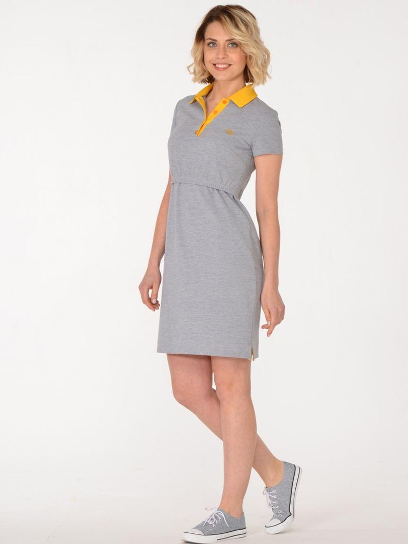 Платье для беременных BuduMamoy, цвет: серый. KL PL 1561 TK 629. Размер 46