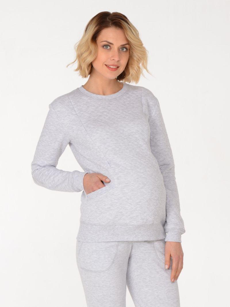 Свитшот для беременных BuduMamoy, цвет: синий. KL DJ 1564 TK 636. Размер 44