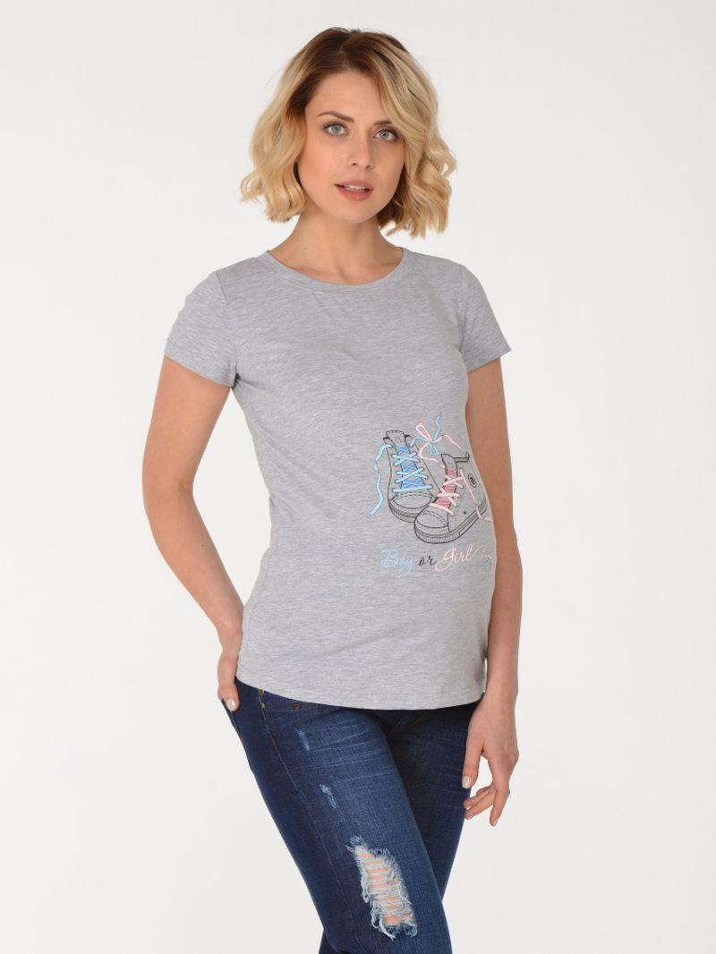 Футболка для беременных BuduMamoy, цвет: серый. KL BL 574 TK 643-1. Размер 44KL BL 574 TK 643-1Универсальная, практичная и удобная футболкадля будущих мам. Оригинальный яркий принт дарит отличное настроение и делает Вас особенной! Отличный подарок для будущей мамы!