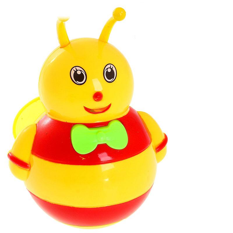 JUNnew Неваляшка Пчелка со звуковыми эффектами цвет желтый красный