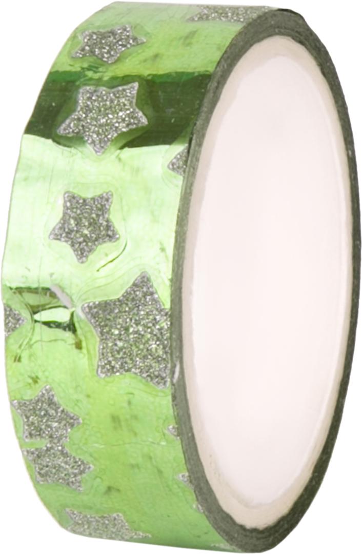 Лента декоративная Magic Home Зеленый глянец. 7631376313Декоративная лента Зеленый глянец из полипропилена, самоклеящаяся, с клеевым покрытием, шириной 1,5см, длиной 400см. С ее помощью можно преобразить любой предмет до неузнаваемости. Проявите фантазию, и украшенный своими руками подарок никого не оставит равнодушным!