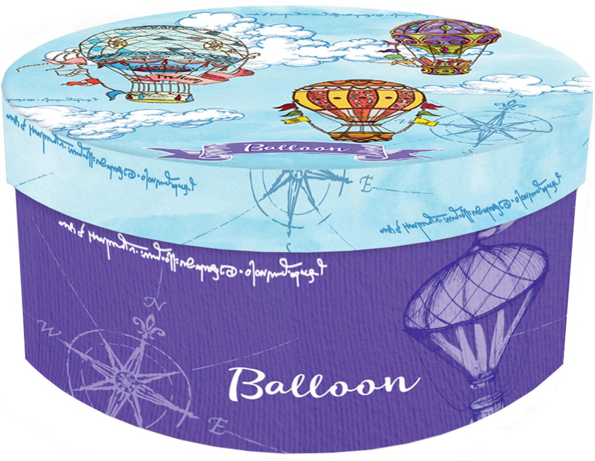 """Подарочная коробка """"Яркие дирижабли"""" из мелованного, ламинированного, негофрированного картона плотностью 1100 г/м2, с полноцветным декоративным рисунком на внутренней и наружной части. Окружите близких людей вниманием и заботой, вручив презент в нарядном, праздничном оформлении!"""