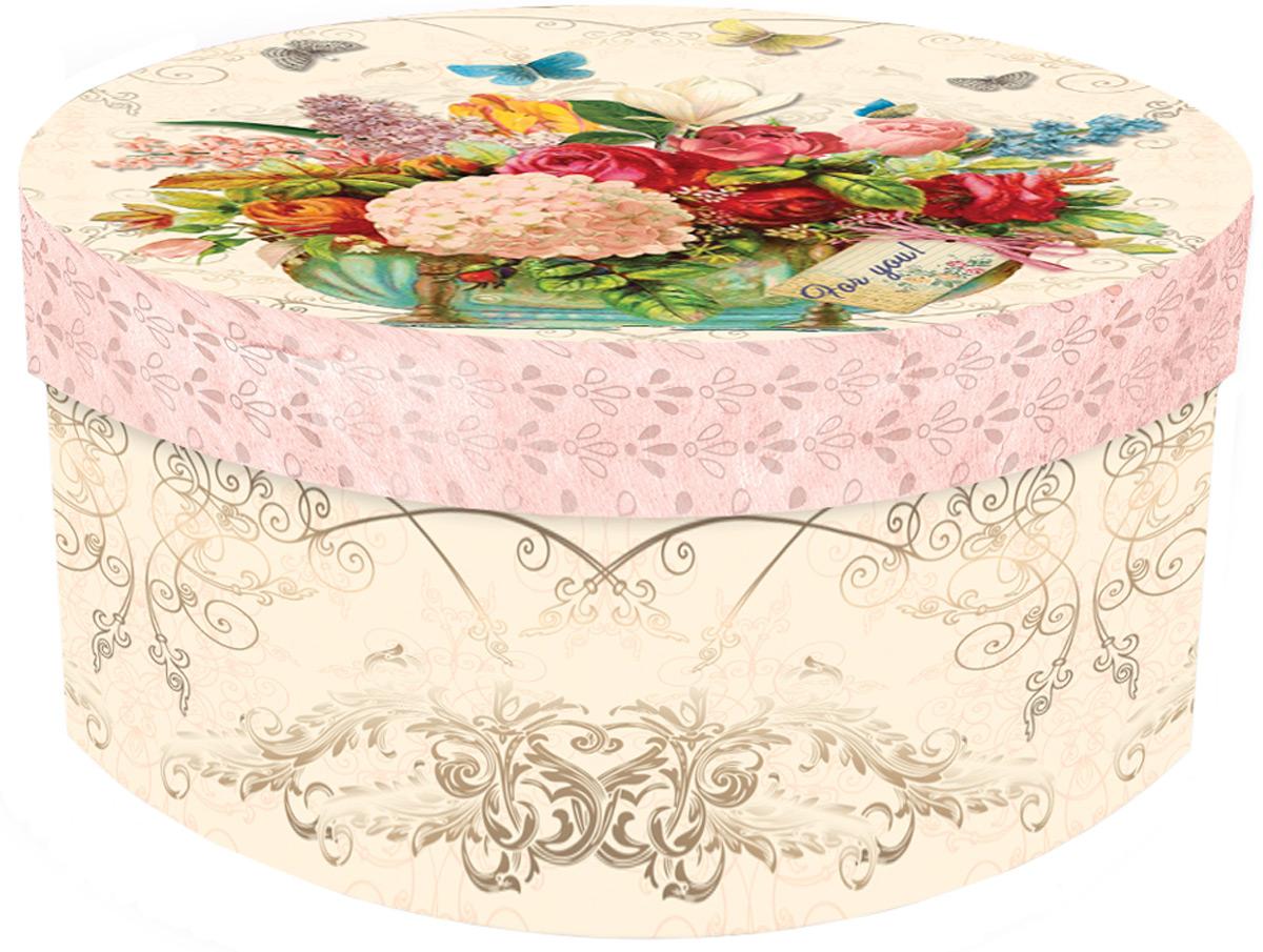 Подарочная коробка Гортензия из мелованного, ламинированного, негофрированного картона плотностью 1100 г/м2, с полноцветным декоративным рисунком на внутренней и наружной части. Окружите близких людей вниманием и заботой, вручив презент в нарядном, праздничном оформлении!