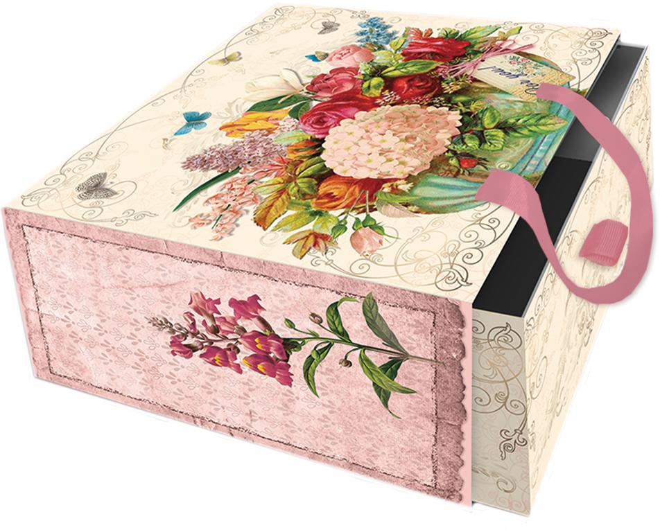 Коробка подарочная Magic Home Гортензия. 7686376863Подарочная коробка Гортензия из мелованного, ламинированного, негофрированного картона плотностью 1100 г/м2, с полноцветным декоративным рисунком на внутренней и наружной части, с ручкой-лентой из тесьмы (полиэстер). Окружите близких людей вниманием и заботой, вручив презент в нарядном, праздничном оформлении!