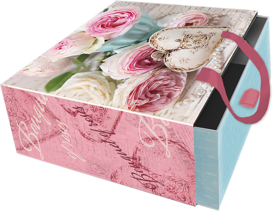 Подарочная коробка Сердце-подвеска из мелованного, ламинированного, негофрированного картона плотностью 1100 г/м2, с полноцветным декоративным рисунком на внутренней и наружной части, с ручкой-лентой из тесьмы (полиэстер). Окружите близких людей вниманием и заботой, вручив презент в нарядном, праздничном оформлении!