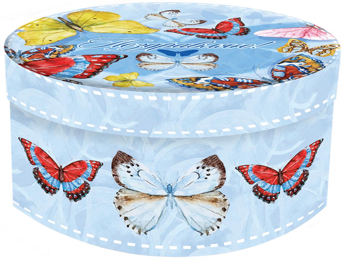 Коробка подарочная Magic Home Тропические бабочки. 76867 коробка подарочная бабочки 14 14 8 5см картон хансибэг