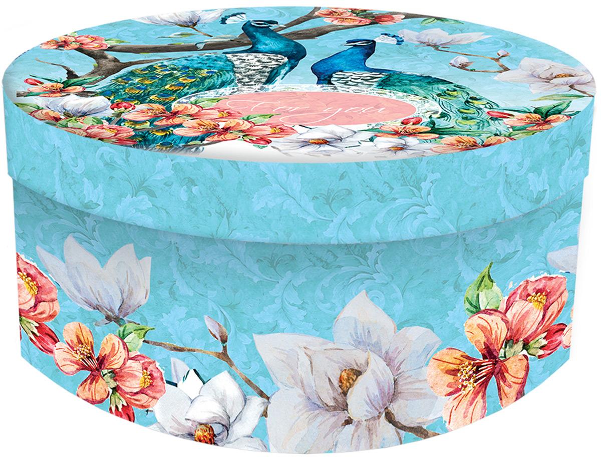 Подарочная коробка Павлины из мелованного, ламинированного, негофрированного картона плотностью 1100 г/м2, с полноцветным декоративным рисунком на внутренней и наружной части. Окружите близких людей вниманием и заботой, вручив презент в нарядном, праздничном оформлении!