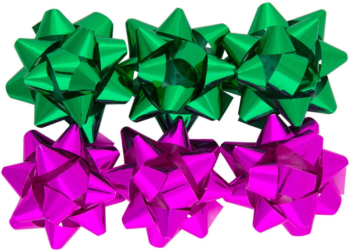 Бант декоративный Magic Home, для оформления подарков. 7696176961Бант – объемный и сверкающий, добавит оригинальности любому подарку. Поиграйте с формой и цветом, проявите свою фантазию! Окружите близких людей вниманием и заботой, вручив презент в нарядном, праздничном оформлении! Декоративный бант из полиэтилентерефталата на клеевом основании, размером 1,2*6см, для оформления подарков, (6 шт в наборе).
